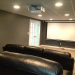 Basement Renovation - Media Room