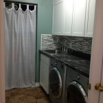 Installation of floor cabinets and backsplash