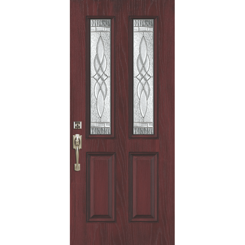 traditional 2 lite entry door replacement