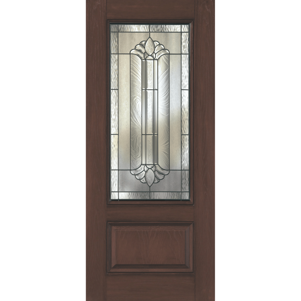 traditional 3/4 glass entry door replacement
