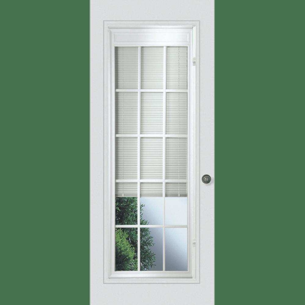 full glass mini blind patio door replacement
