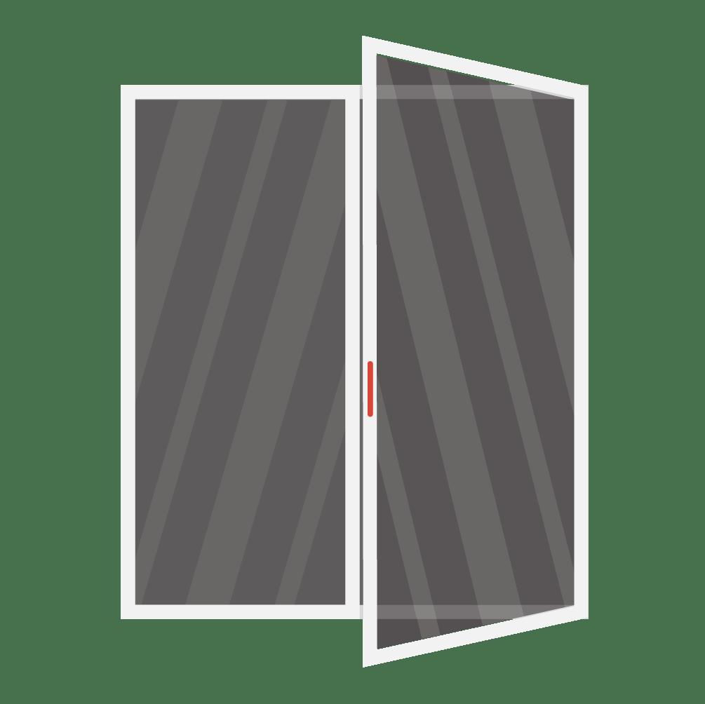 fixed right hand swing patio door replacement