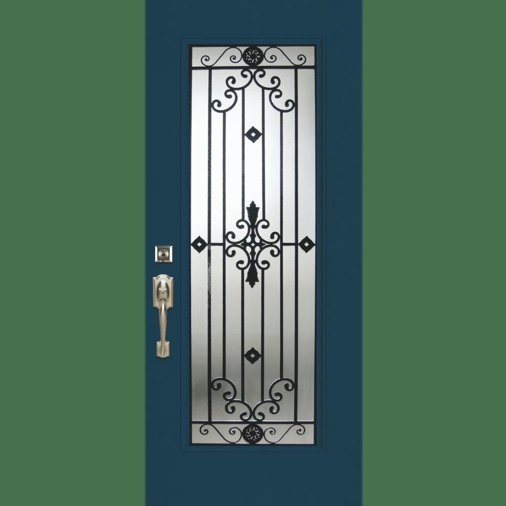 wrought iron entry door replacement
